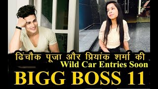 Bigg Boss 11 Wild Card Entries : - Priyank Sharma And Dhinchak-pooja To Get in Bigg boss 11 House