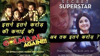 Golmaal Again and Secret superstar First Week Box Office Collection  Total Box Office Collection