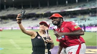 IPL KXIP vs SRH Chris Gayle and Preity Zinta celebrate their win in style, Chris Gayle SRH