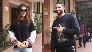 Siddhant Chaturvedi And Kriti Sanon Spotted At Kwan Office Andheri