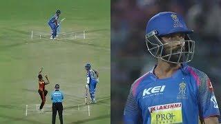 IPL 2018 SRH VS RR: Ajkey Rhene 65 Run in 53 Ball  Rajasthan Royals(RR) vs Sunrisers Hyderabad(SRH)