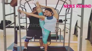 Jacqueline Fernandez New Pole Exercise | Jacqueline Fernandez RACE 3 ACTION STUNT VIDEO
