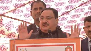 BJP National Working President Shri JP Nadda at a program '100th Chaupal' in New Delhi.