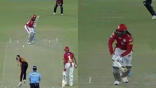 IPL 2018 KXIP VS SRH gayle ,Chris Gayle slams four 6 in Rashid Khan's over