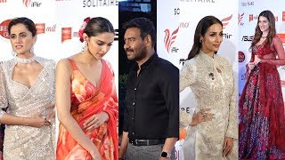 Deepika, Taapsee, Malaika, Kriti, Ajay Devgn On Red Carpet Of Lokmat Most Stylish Awards