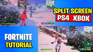 HOW TO SPLIT SCREEN IN FORTNITE Tutorial on PS4 and XBOX ONE
