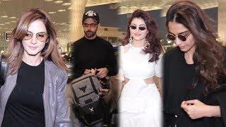 Hrithik Roshan, Sussanne Khan, Urvashi Rautela, Anil Kapoor, Sonam Kapoor Spotted At Airport