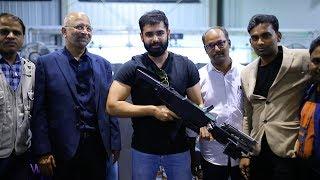 Hero Ram Pothineni Fun @ Zen Technologies | Rifle Shooting | RED Movie Shooting | Bhavani HD Movies