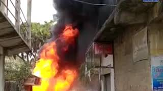 Una| A fiery fire broke out near the pipe godown | ABTAK MEDIA