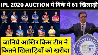 IPL 2020 Auctions : List Of All 61 Sold Players in Auction with Prices | Cricket Express