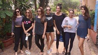 Amruta Arora, Malaika Arora, Seema Khan, Akanksha, Gabriella Spotted At Spotted At Diva Yoga