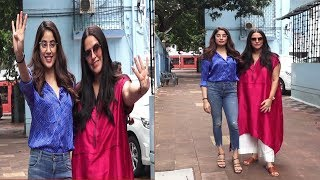 Neha Dhupia & Janhvi Kapoor Recording Of Her Podcast Show No Filter Neha Season 4  | News Remind