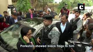 WB's Guv Jagdeep Dhankhar shown black flags by Jadavpur University students
