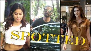 Kriti Sanon,Shahid Kapoor, Jhanvi Kapoor Spotted | News Remind