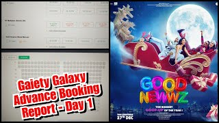 Good Newwz Advance Booking Report Day 1 At Gaiety Galaxy Theatre