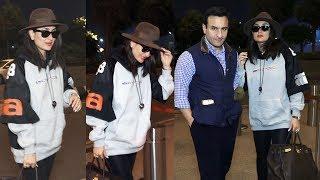 Kareena Kapoor Khan With Saif And Taimur Fly For New York