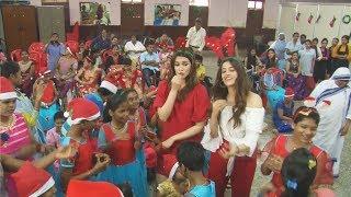Kriti Sanon And Nupur Sanon Celebrates Christmas With NGO Kids