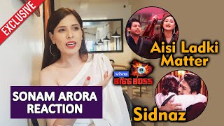 Sonam Arora Reaction On Siddharth-Rashmi Fight | Sidnaz | Asim-Siddharth | Bigg Boss 13