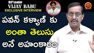 BJP Leader P Vijay Babu Exclusive Full interview || Close Encounter With Anusha