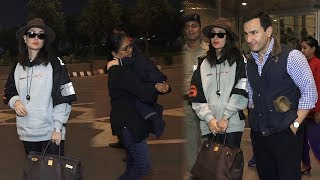 Kareena Kapoor, Saif Ali Khan Off To Christmas Vacation With Taimur Ali Khan