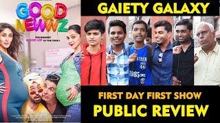 GOOD NEWWZ Public Review | Gaiety Galaxy Theatre | First Day | Akshay, Kareena, Daljit, Kiara