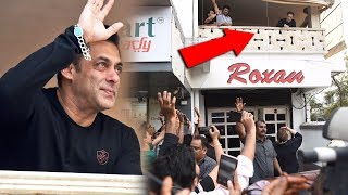 Emotional Salman Khan Waves His Hand Outside Galaxy Apartment For Fans On His 54th Birthday