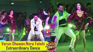 Varun Dhawan, Nora Fatehi Extraordinary Dance At Street Dancer 3d Film Song Lunch