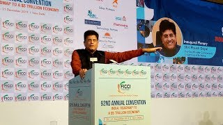 Mr Piyush Goyal, Minister of Commerce and Industry, and Railways at 92nd #FICCIAGM