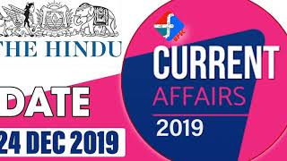 24 December 2019 | Current Affairs | Formula UPSC