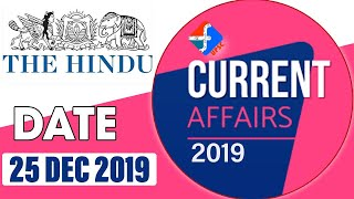 25th December 2019 | Current Affairs | Formula UPSC