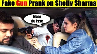 Fake Gun Prank on Shelly Sharma | Mafia Prank | Unglibaaz