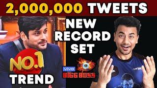 Bigg Boss 13   Sidharth Shukla 2 MILLION Tweets Record   Biggest In History   BB 13 Video