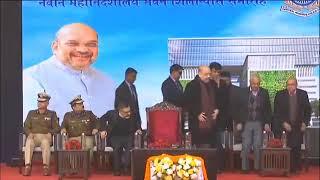 HM Shri Amit Shah lays the foundation stone of CRPF Headquarters in New Delhi.