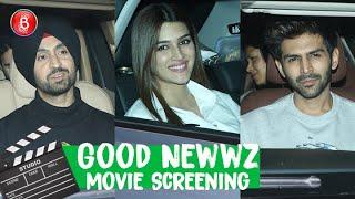 From Kartik Aaryan To Kriti Sanon To Diljit Dosanjh - Celebs Attend Good Newwz Screening