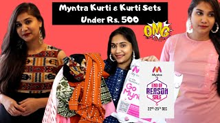 MYNTRA EORS SALE HAUL| MYNTRA Kurti Haul | Myntra Online Shopping | Myntra Online Kurti Haul
