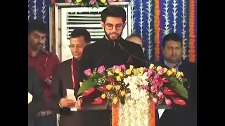 Watch: Aaditya Thackeray takes oath as minister in Maharashtra Govt