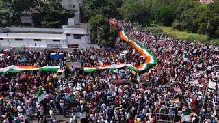 देश बचाव, संविधान बचाव महारैली   CAA Protests visual from Pune, Maharashtra