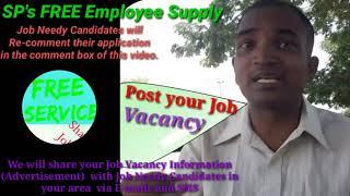 MANGO      EMPLOYEE SUPPLY   ! Post your Job Vacancy ! Recruitment Advertisement ! Job Information 1