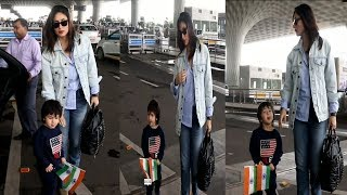Taimur Ali Spotted With Mom Kareena At Airport  | News Remind
