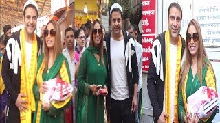Krushna Abhishek & Kashmera Shah Takes Blessing At Siddhivinayak Temple  | News Remind