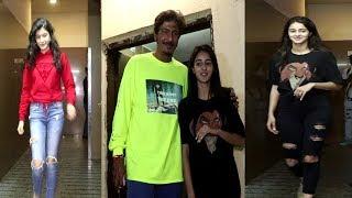 Shanaya Kapoor & Ananya Pandey Chunky Pandhy Spotted At JUHU PVR  | News Remind