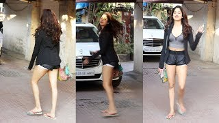 Janhvi Kapoor Looks Stunning Spotted Outside Gym | Khar