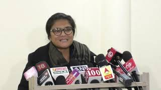 Sushmita Dev addresses media at Congress HQ