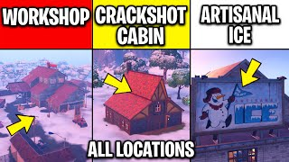 Visit The Workshop, Crackshot's Cabin, and Mr  Polar's Artisanal Ice - Fortnite All Locations