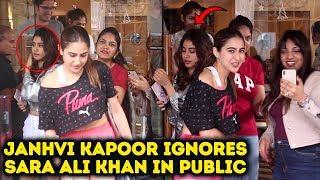 Janhvi Kapoor IGNORES Sara Ali Khan In Public | Janhvi Kapoor VS Sara Ali Khan