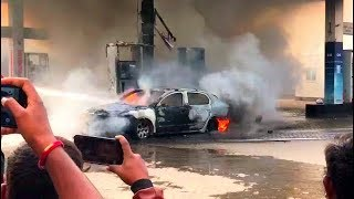 Petrol Pump Mein Lagi Aag At Shaikpet | Fire Engine At Spot | @ SACH NEWS |