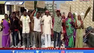 છોટાઉદેપુર - 19 આદિજાતિ સ્કૂલોના કામદારોની હડતાળ