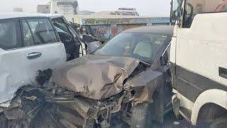 Rajasthan // कोहरे के चलते आपस में टकराई दर्जन से ज्यादा गाड़ियां