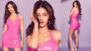 Ananya Panday Latest Photo Shoot  In Tight Pink Dress Looks Super Hot