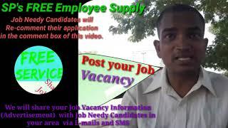 NADIAD      EMPLOYEE SUPPLY   ! Post your Job Vacancy ! Recruitment Advertisement ! Job Information